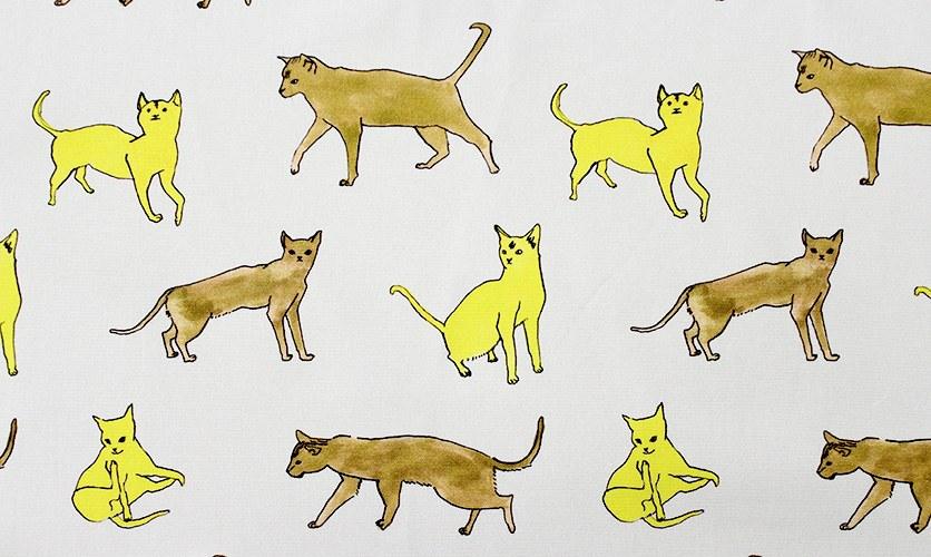 nunocoto fabric:cat(イエロー)