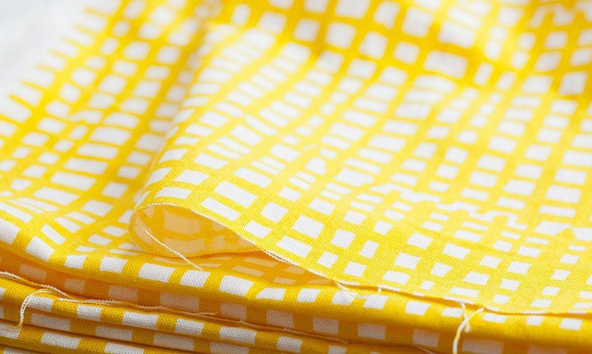 [カット済 50cm×50cm] nunocoto fabric:madomado(マドマド)/イエロー