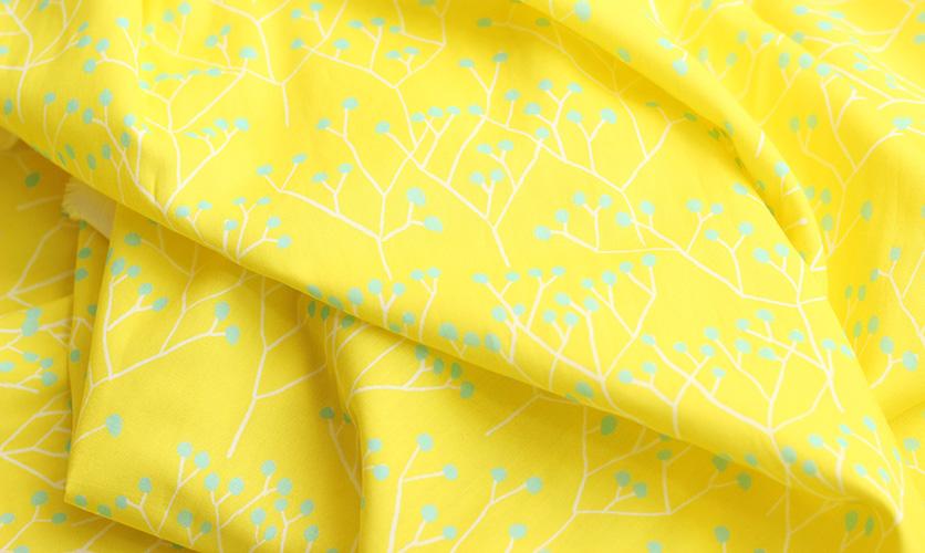 nunocoto fabric:tree(ツリー)/イエロー