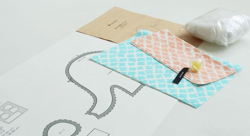 5fd44674e9499b nunocotoが展開するベビー用品の手作りキットは、布と必要な材料、そして分かりやすいレシピブックがまるごとセット!  あれこれと面倒な準備をしなくても、すぐに ...