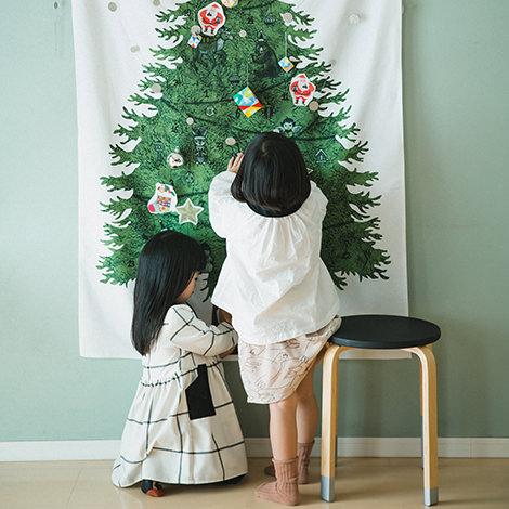 クリスマスツリータペストリー(大):さこももみ