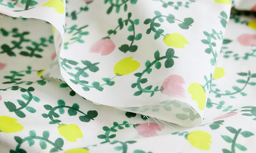 nunocoto fabric:smallgarden(ホワイト)