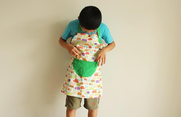 子ども(キッズ)用エプロンの作り方