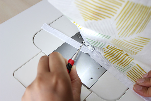 ファスナーの付け方・縫い方