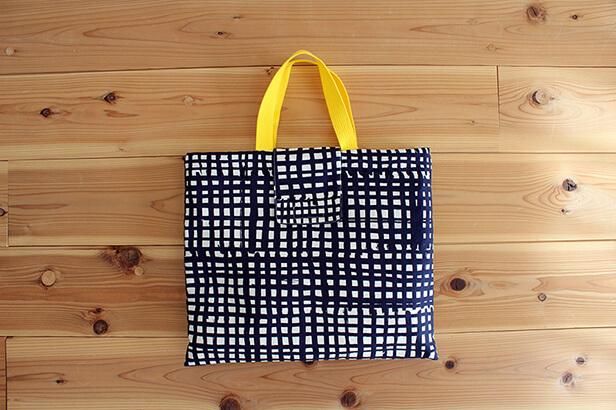 手作り通園バッグのふたの付け方
