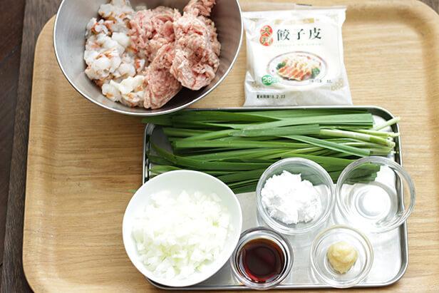 ニラ饅頭のレシピ