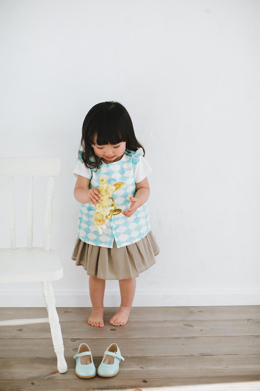 「ほんとうに使えるベビーからの服とこもの」掲載分 Aラインチュニックキット ※レシピ・型紙なし