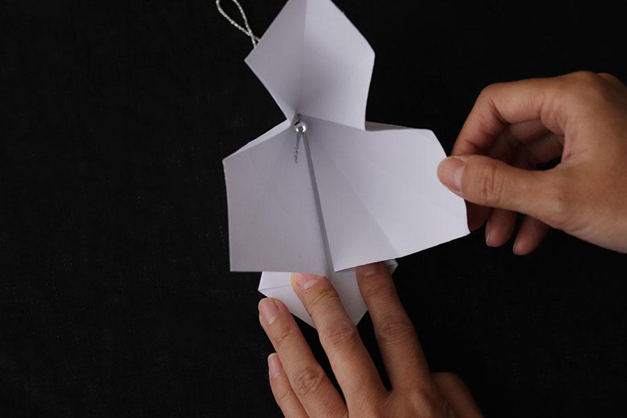 ひし形のオーナメントの作り方